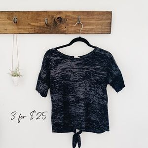 UO caution to the wind backless shirt